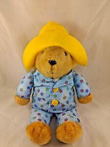 "Paddington Bear Plush Pajamas Sounds Snores 15"" Sears Kids Gifts Stuffed Animal"