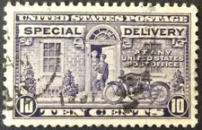 1927 10c Motorcycle Special Delivery single, Scott #E15, Used, VF