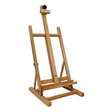 US Art Supply Adjustable Wood Tabletop H-Frame Studio Artist Easel Painting