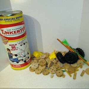 Tinkertoy Super Crane 2001 Special Edition CONSTRUCTION SET 74 Pieces Tinker Toy