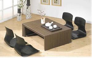 Black Floor Chair Tatami chair Japanese Zaisu chair  Asian Legless Seat