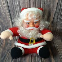 "Vintage Santa Clause Rubber Face Jingle Bells Talking Saint Nick 10"" Nostalgia"