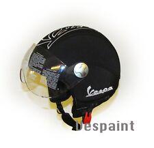 Casco Vespa Vintage retrò personalizzato in pelle completo di visiera S,M,L,XL