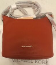 BNWT Michael Kors Orange 'Lupita' Medium Leather Messenger Bag. Gift Idea!