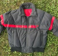 VTG Ski Jacket Zip Up Reversible Tyrolia By Head Men's Puffer Coat 80s 90's SZ L
