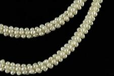 "VINTAGE Estate Jewelry Woven Freshwater 4MM Pearl 10MM Wide Necklace 46"" Long"
