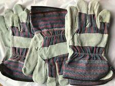 3 Pairs Radnor L Split Leather Work Gloves 64057515