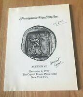 Numismatic Fine Arts Auction VII - December 6, 1979 Ancient Coin Sale Est Prices