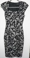 Karen Millen Cap Sleeve Floral Lace Pencil Dress Uk8 Us4 Eu36