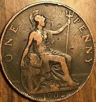 1902 UK GB GREAT BRITAIN ONE PENNY