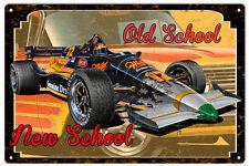 Old School New School Hot Rod Garage Art Sign