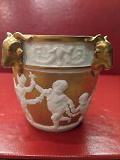 Sevres Jardiniere / Cache Pot Mat & Burnished Gold Biscuit & Glazed Porcelain