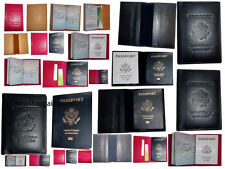6 New USA Leather passport case wallet credit ATM card case ID holder Brand New*