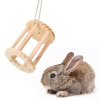 Pet Cage Toy Wooden Mouse Rat Hamster Chew Play Bridge Grass Basket Toys