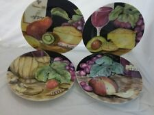 "American Atelier NAPA 5382 Set of 4 Salad Canape Plates 8 1/4"" 4 designs"