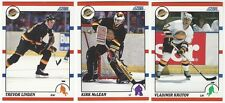 9 1990-91 SCORE HOCKEY VANCOUVER CANUCKS CARDS (LINDEN/MCLEAN+++)