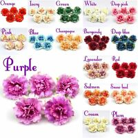 10-20X Artificial Silk Rose Carnation Peony Flowers Heads DIY Bouquets Home Deco