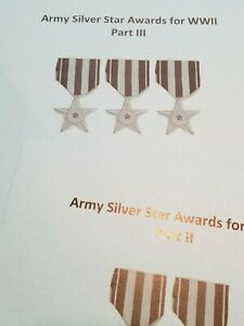 WW II US Army Silver Star Medal Planchet Press Book Set All 3 Parts 60,000+Names