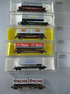 N scale Atlas Piggyback Flats/trailers 6 Cars