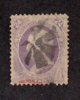 United States stamp #153, used, 24c purple, 1870 - 1871, SCV $210.00