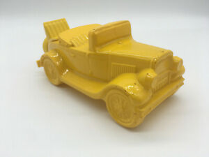 Vintage Yellow Glass Avon Model A Antique Car After Shave 'Wild Country'