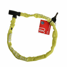 GIANT Bike Bicycle Lock Waterproof Nylon And Steel Cable Lock 600mm Yellow Green