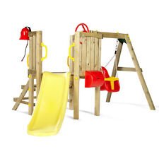 NEW Plum Wooden Toddler Tower Climbing Frame Baby Seat Slide Outdoor Play Kids