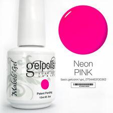 15ml Mabel's Gel Nail Art Soak Off Color UV Gel Polish UV Lamp - Neon Pink
