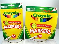Crayola Broad & Fine Point Markers Nib - Two 10 Packs - Brilliant Lasting Colors