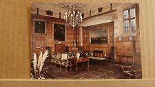 Postcard unposted Montgomeryshire, Welshpool, Powis castle, Oak drawing room