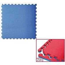 Toorx Tatami ad incastro 100x100x2cm. con 4 bordi Rosso-blu Antiscivolo