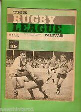 #YY. RUGBY LEAGUE NEWS June 13-14  1968, Balmain V St George Cover