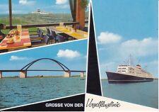 uralte AK, Gruss von der Vogelfluglinie, Fehmarnsundbrücke-Vogelfluglinie....