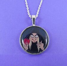 Collana strega malvagia Regina Cattiva CATTIVI DISNEY BIANCANEVE VELENO Apple Woman