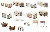 FALLER 130503 - Set campeggio con caravan. Scala H0 1:87