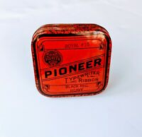 Vintage Pioneer Typewriter Ribbon Tin Red Crown Ribbon & Carbon Rochester NY