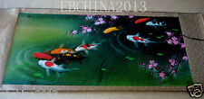 """60""""Chinese culture art collection goldfish pond painting"""