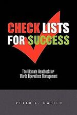 CHECK LISTS FOR SUCCESS [9781441592187] - PETER NAPIER (PAPERBACK) NEW