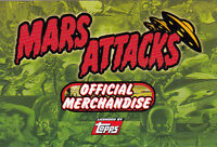 2012 TOPPS MARS ATTACKS HERITAGE OFFICIAL MERCHANDISE 3 PAGE FOLD-OUT CARD AD