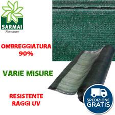 Rete telo ombreggiante verde ombra 90% frangivista frangisole oscurante