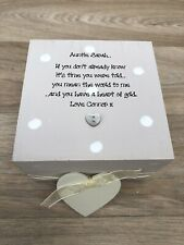 Shabby Chic Personalised AUNTIE Aunty Aunt Great Auntie Trinket Box Special Gift
