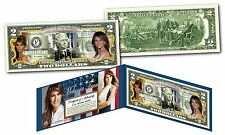 "MELANIA TRUMP ""FIRST LADY OF THE UNITED STATES"" U.S. $2 BILL! W/H COA & FOLIO!"