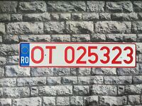 Romania Provisional License Plate Euro Stars Olt County #5