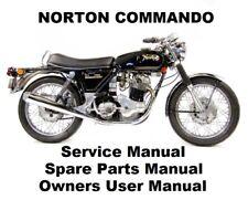NORTON COMMANDO 750 850 - Owners Workshop Service Repair Manual PDF on CD-R