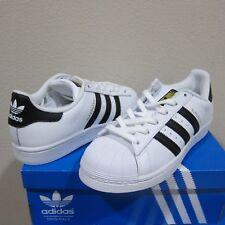 meet 6d9da ed51d adidas Womens Originals Superstar White Black Gold C77153 Size 9