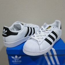 meet 98def 10aa3 adidas Womens Originals Superstar White Black Gold C77153 Size 9