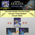 STAR WARS ARMADA 2017 QUART 4 OP KIT - Y-Wing Sc + 5 Tokens + 2 Bomber Command C