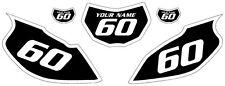 1997-2005 Yamaha TTR600 Pre-Printed Black Backgrounds White Bold Pinstripe