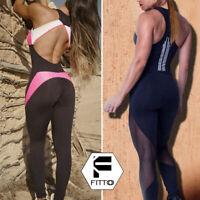 Women Jumpsuit Workout Sport Gym Yoga Running Fitness Leggings Pants Athletic