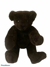 """Authentic Vermont Teddy Bear Jointed 16"""" Dark Chocolate Brown"""